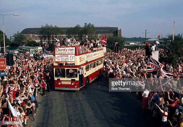 Thousands of Liverpool fans lined the streets of the City as the team returned with the European Cup after their 31 victory over Borusssia...