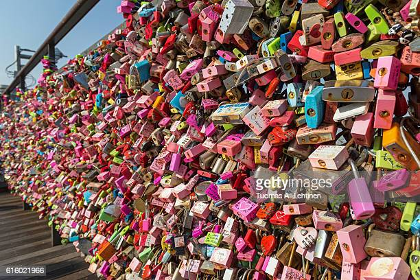 Thousands of love locks at the Namsan Hill in Seoul