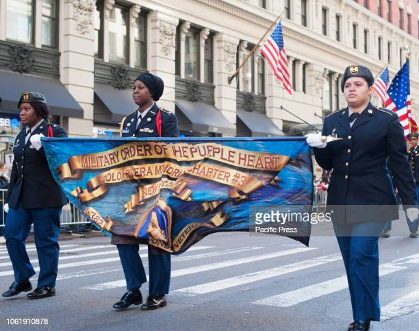 Thousands of marchers participated in the annual Veterans Day Parade in New York City which is the largest parade in the nation Over 300 units of the...