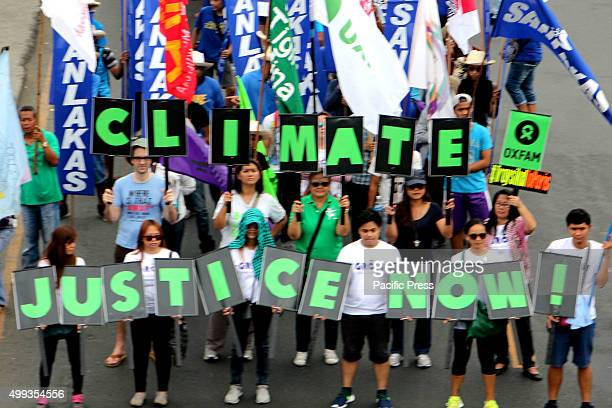 Thousands of marchers set-out a call for climate justice in behalf of vulnerable nations like the Philippines, and to demand a strong fair and...