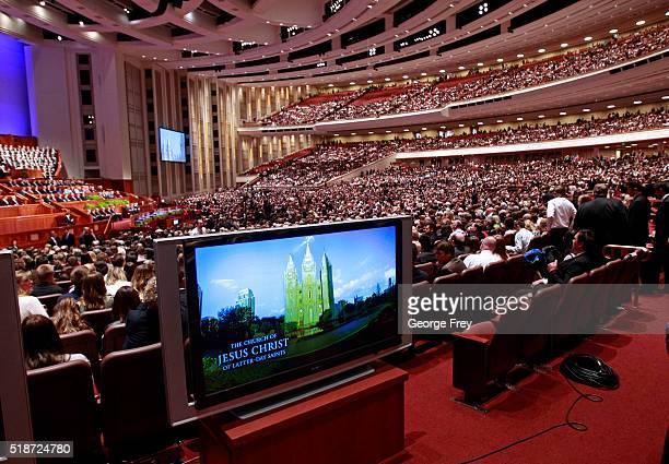 Thousands of Mormons fill the Conference Center for the start of the 186th Annual General Conference of the Church of Jesus Christ of LatterDay...