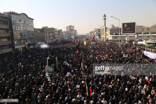 Thousands of mourners pay homage to assassinated Iranian Major Geneneral Soleimani in US Airstrike. The Pentagon announced that Iran's Quds Force...