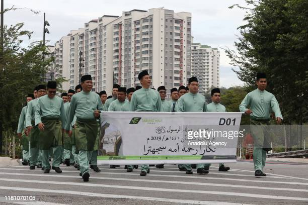 Thousands of Muslims attend Mawlid parade at the celebration of the Prophet Muhammad in Kuala Lumpur Malaysia on November 09 2019 The celebration of...