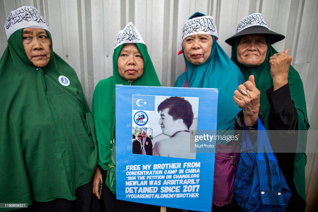 Rally For Muslim China Uighur In Front Of China Embassy : News Photo