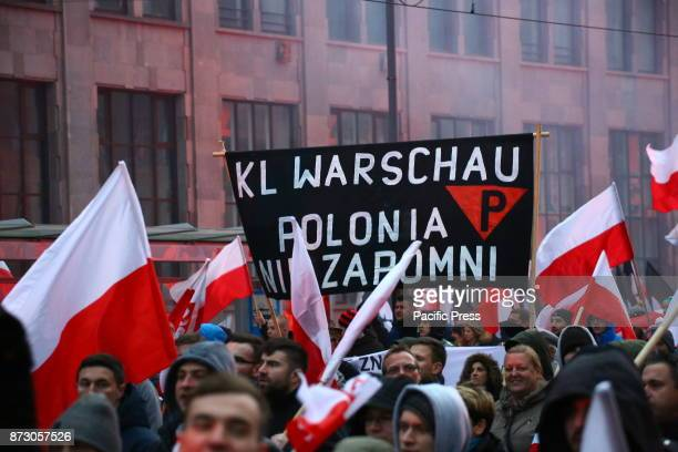 JEROZOLIMSKIE WARSAW POLAND Thousands of nationalists and far right members marched to celebrate 100th Independence Day under the slogan 'we want...