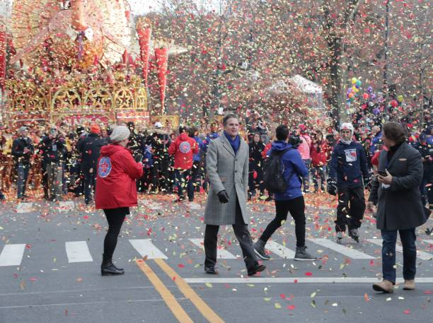 Thousands of people along with Macy's CEO Jeffrey Gennette participated in the 93rd Macys Annual Thanksgiving day Parade 2019 in New York City New...