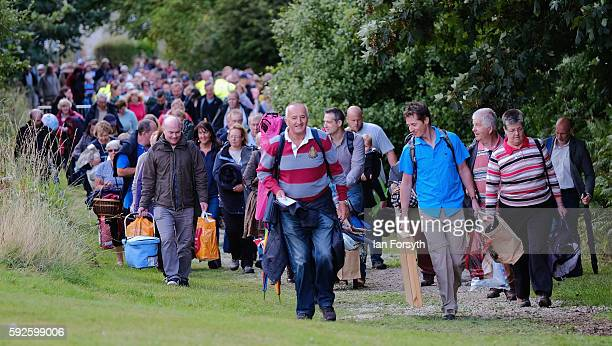 Thousands of people attend the annual classical Proms Spectacular concert held on the north lawn of Castle Howard on August 20 2016 in York England...