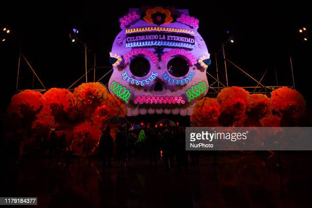 Thousands of people attend the ''Celebrating Eternity'' night tour in Mexico City on October 30 2019 which takes place from October 30 to November 3...