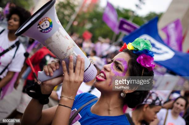 Thousands of people attend to a rally for the International Women's Day in Sao Paulo Brazil this Wednesday Inspired by movements such as the...