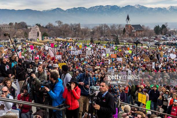 Thousands of people converged on the steps of Utah's State Capital building to protest President Trump's plan to shrink protected areas across the...