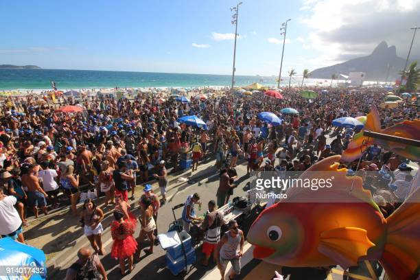 Thousands of people crowd the streets of Ipanema to participate in the carnival block Simpatia É Quase Amor one of the most traditional events of the...