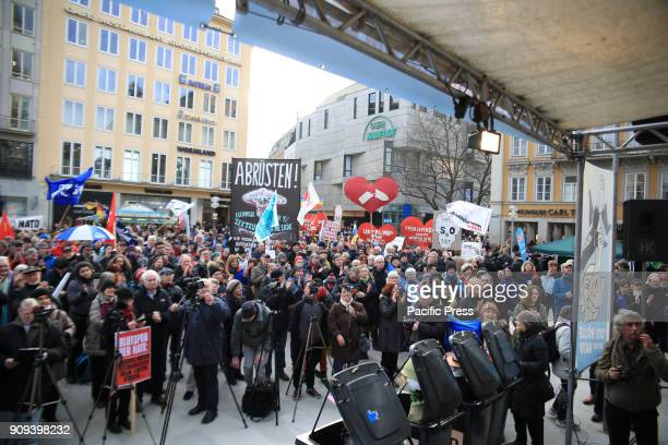 CENTER MUNICH BAVARIA GERMANY Thousands of people demonstrated on the streets of Munich against the Munich Security Conference which was held in the...