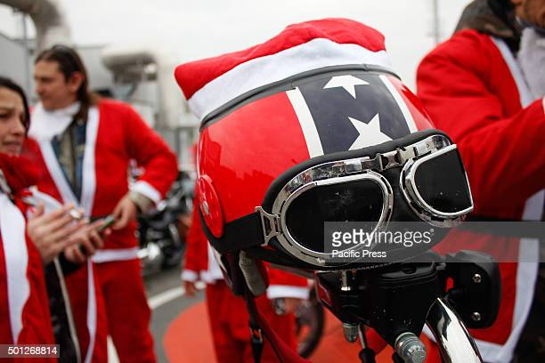 Thousands of people dressed as Santa Claus took part in the sixth edition of 'Un Babbo Natale in Moto'