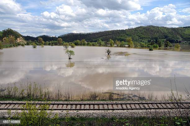 Thousands of people evacuated after overflow of rivers due to heavy rain in Belgrad Serbia on 20 April 2014 Timok Ibar and Raska rivers overflowed...