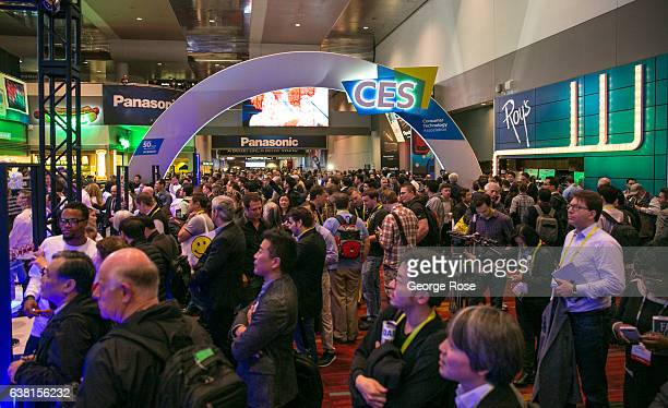 Thousands of people file into the Las Vegas Convention Center for the start of the annual Consumer Electronics Show on January 4 2017 in Las Vegas...