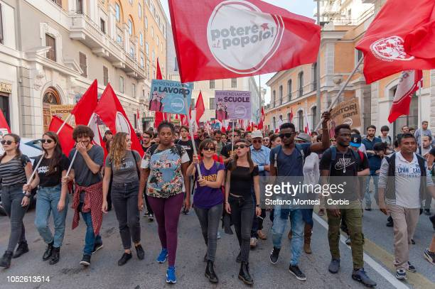 Thousands of people from all over Italy have demonstrated in Rome for the nationalization of services companies and strategic infrastructure of the...