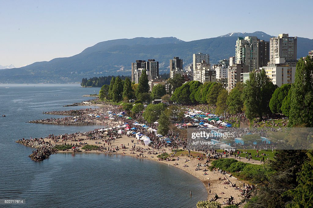 Thousands of people gather at 4/20 celebrations on April 20, 2016 at Sunset Beach in Vancouver, Canada. The Vancouver 4/20 event is the largest free protest festival in the city, with day-long music, public speakers and the world's only open-air public cannabis farmer's market where people sell all kinds of cannabis and extracts while educating the crowd about medical marijuana, political involvement and activism. Canadian Federal Health Minister Jane Philpott says Canada will roll out the legislation in the spring of 2017 to begin the process of legalizing and regulating marijuana.