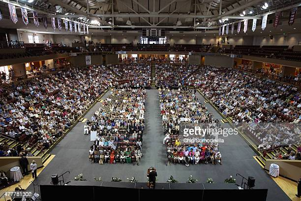 Thousands of people gather for a citysponsored prayer vigil for the nine victims of the Emanuel AME Church shooting at the College of Charleston TD...