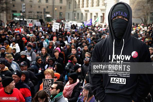Thousands of people gather for the Justice For All rally and march in the nation's capital against police brutality and the killing of unarmed black...