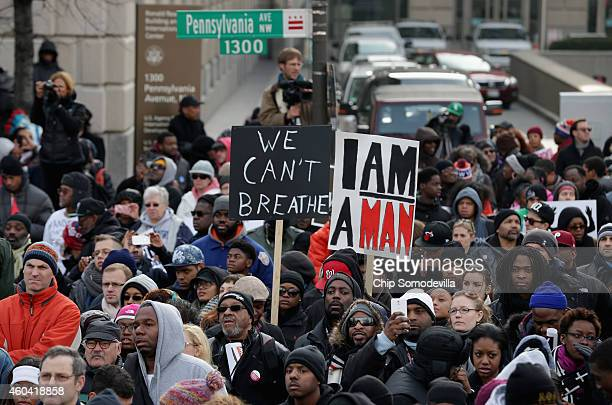 Thousands of people gather in the nation's capital for the Justice For All rally and march against police brutality and the killing of unarmed black...