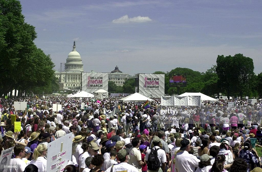 Thousands of people gather on the National Mall in : News Photo