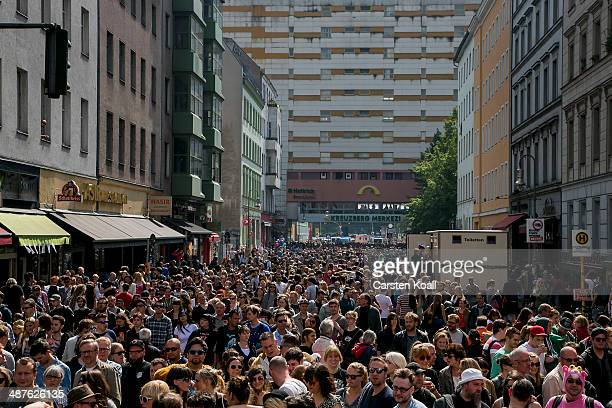 Thousands of people gather the streets for food and music at the MyFest street fest in immigrantheavy Kreuzberg district on May Day on May 1 2014 in...