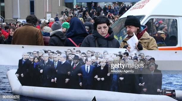 Thousands of people gather to stage a demonstration to protest against the politics of Belgium State secretary for Asylum Policy and Migration Theo...