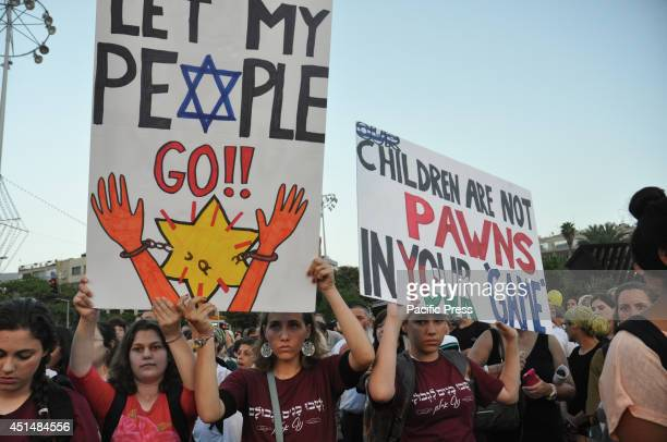 Thousands of people gathered in Tel Aviv's Rabin Square on Sunday evening for a rally calling for the release of Naftali Fraenkel Gilad Shaar and...