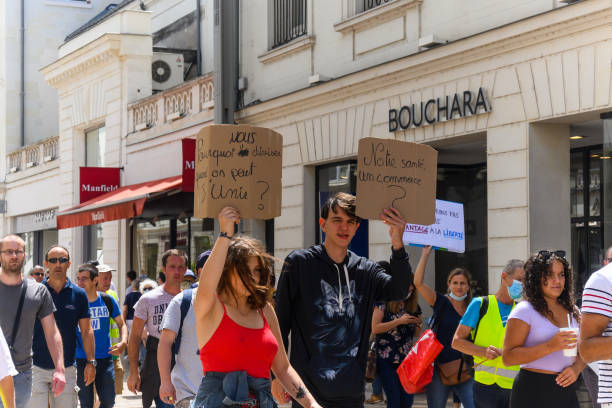 FRA: Protest Against The Restrictions Of Covid-19 In France