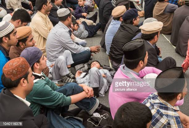 Thousands of people have gathered for a Friday prayer and to hear Caliph Mirza Masroor Ahmad the spiritual leader of the Ahmadiyya Muslim Community...