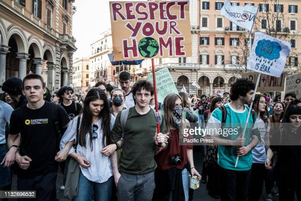 Thousands of people held a demonstration to ask to stop the global warming and for climate change and against the TAV the TAP and against the MOUS...