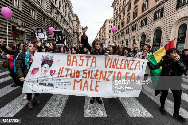 Thousands of people held a demonstration to mark the International Day for the Elimination of Violence against Women and to recall the victims of...
