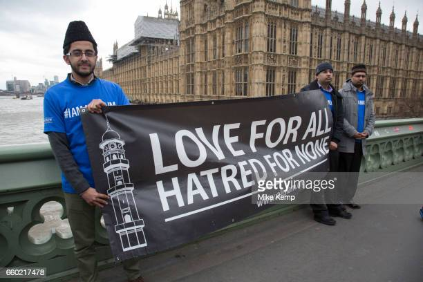 Thousands of people including police officers and Muslim faith leaders gathered on Westminster Bridge to hold a vigil and a minutes silence one week...