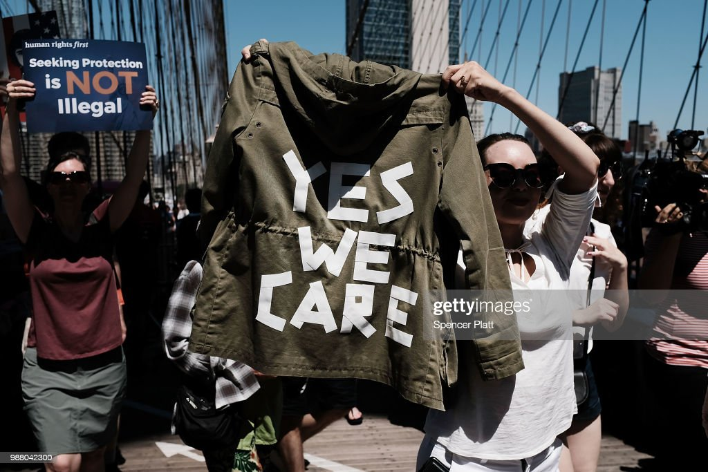 "Melania Trump's ""I don't really care"" jacket inspires marchers"