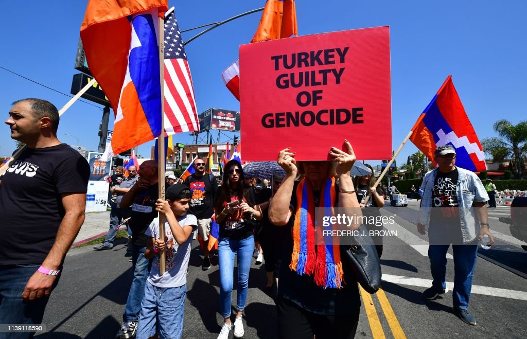 US-HISTORY-GENOCIDE-ARMENIA-ANNIVERSARY : News Photo