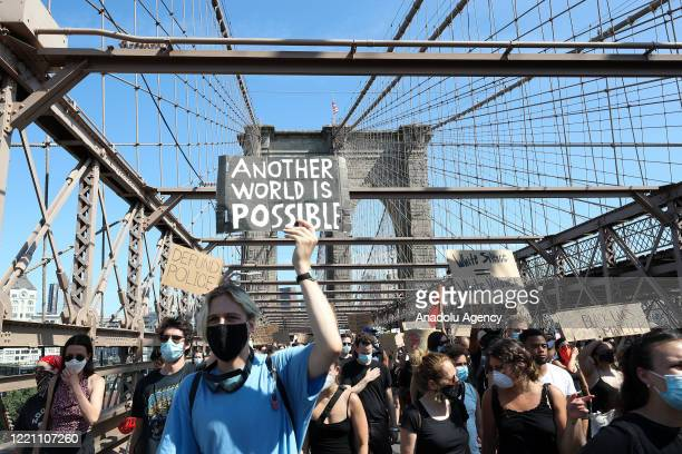 Thousands of people participate in a march for both âBlack Lives Matterâ and to commemorate the 155th anniversary of Juneteenth in New York City,...