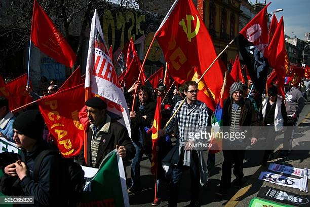 Thousands of people participate in a march to commemorate the upcoming 41 anniversary of the military coup led by General Augusto Pinochet. The...