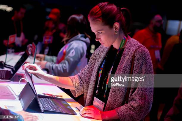 Thousands of people participate in the Mobile World Congress 2018 in Barcelona Spain from February 26 to March 1 2018