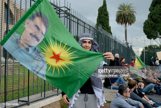 """Thousands of people participate in the National march i""""Defende Rojava"""" against the Turkish war in Rojava and supporting the Kurdish people, on..."""