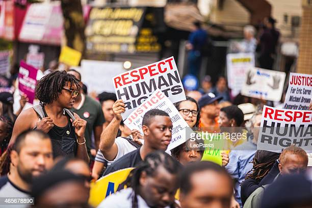 Thousands of people protest against NYPD in August 2014