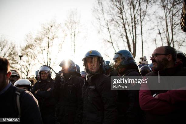 Thousands of people take part in a antiEuropean Union demonstration as European Union leaders meet on the 60th anniversary of the Treaty of Rome in...