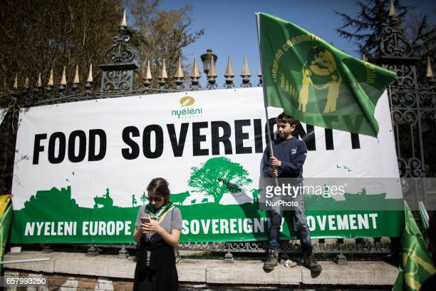 Thousands of people take part in a proEuropean Union demonstration as European Union leaders meet on the 60th anniversary of the Treaty of Rome in...