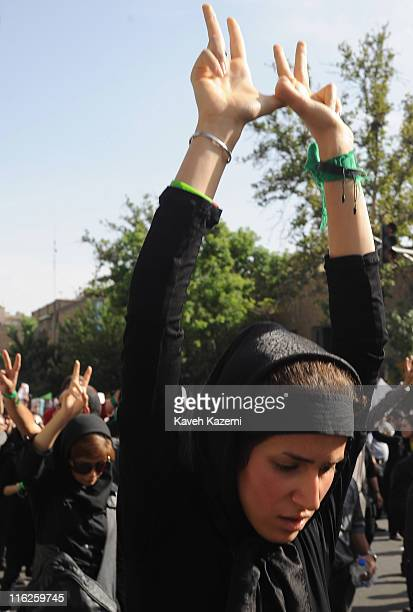 Thousands of people take to the streets of Tehran after the disputed presidential election results by which Mahmoud Ahmadinejad was elected as...