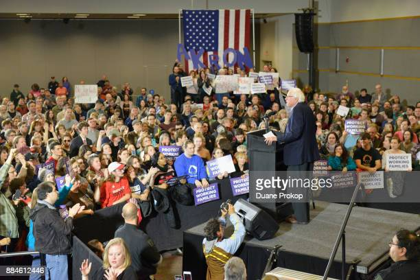 Thousands of people turnout to hear Senator Bernie Sanders and take action against the Republican tax plan that would give huge tax cuts to...