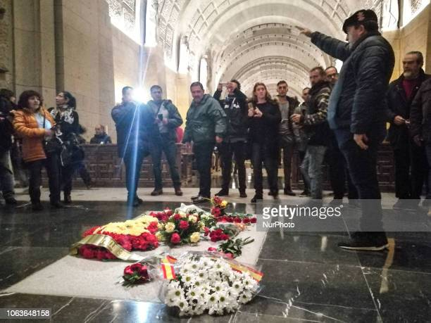 Thousands of people visit the Valley of the Fallen on t on November 20 2018 in San Lorenzo de El Escorial near Madrid Spain the date on which marks...