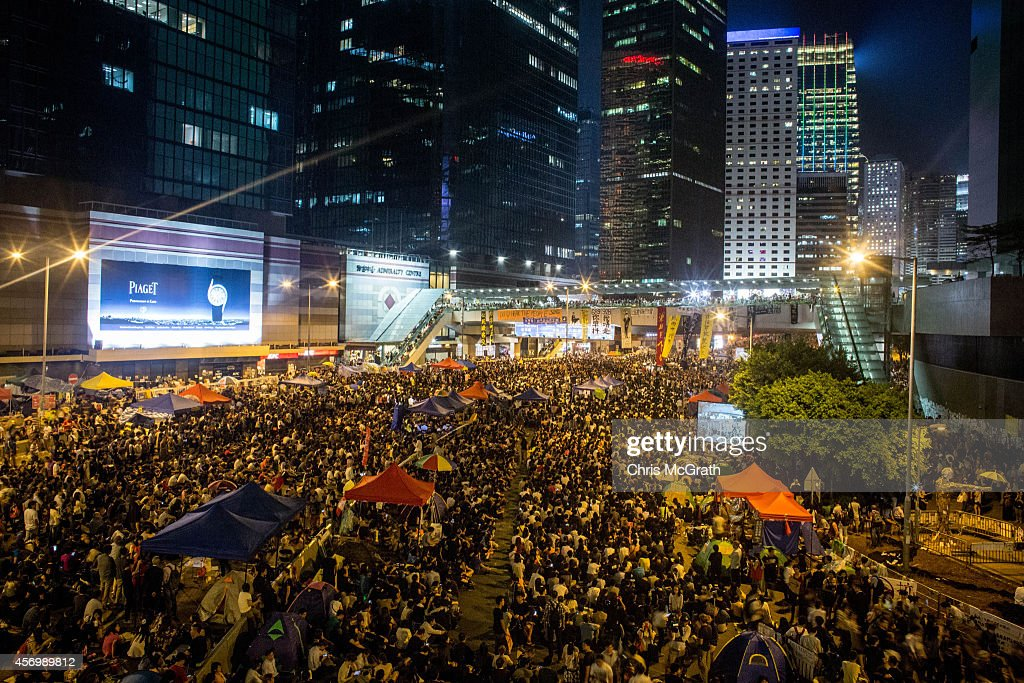 Hong Kong Sit In Continues As Negotiations Break Down : News Photo