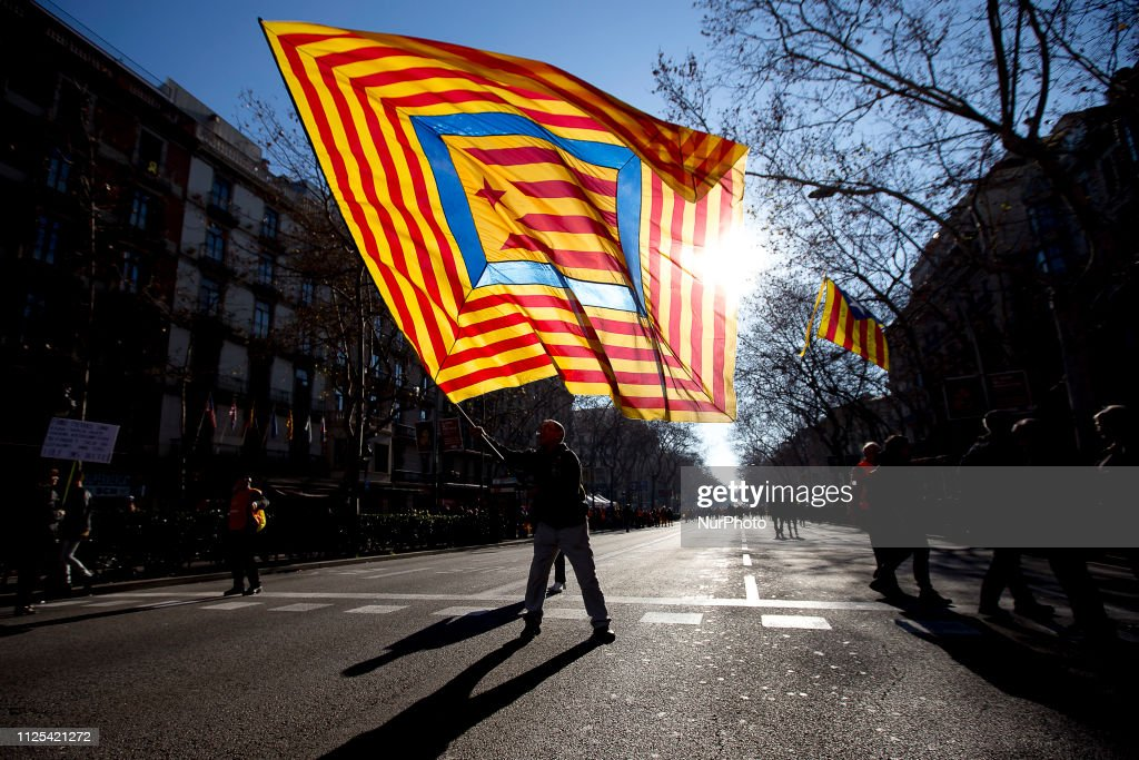 ESP: Thousands Of Protesters For The Self-determination Of Catalonia