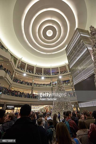 Thousands of protesters from the group Black Lives Matter disrupt holiday shoppers on December 20 2014 at Mall of America in Bloomington Minnesota