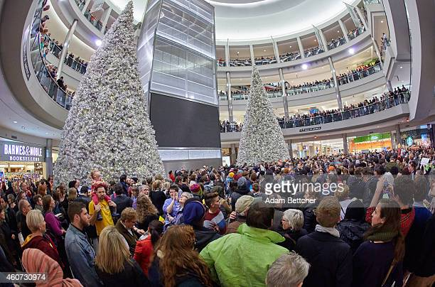 "Thousands of protesters from the group ""Black Lives Matter"" disrupt holiday shoppers on December 20, 2014 at Mall of America in Bloomington,..."