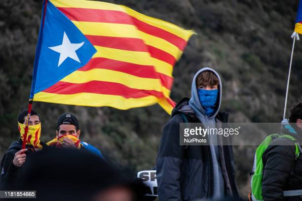 Thousands of protesters of Catlunya and Nord Catalunya cut from early morning the traffic in the AP7 highway in El Pertus, Spain, on 11 November...